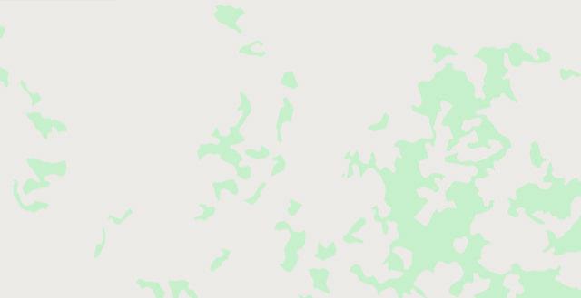 Eine Landkarte, die nur grüne und weiße Flecken zeigt.