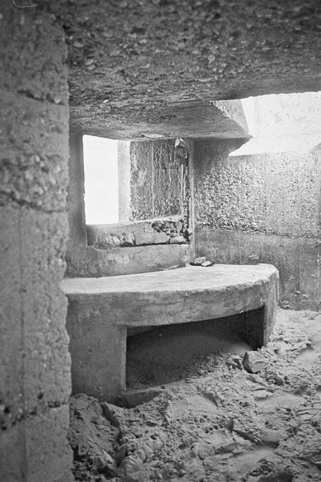 Bunkerfenster von innen