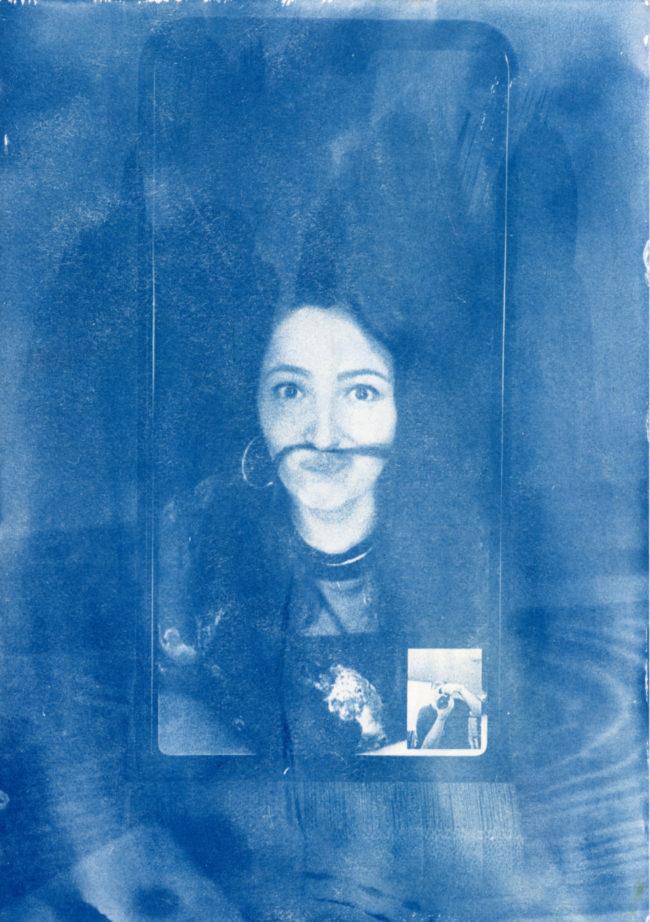 Blaues Portrait