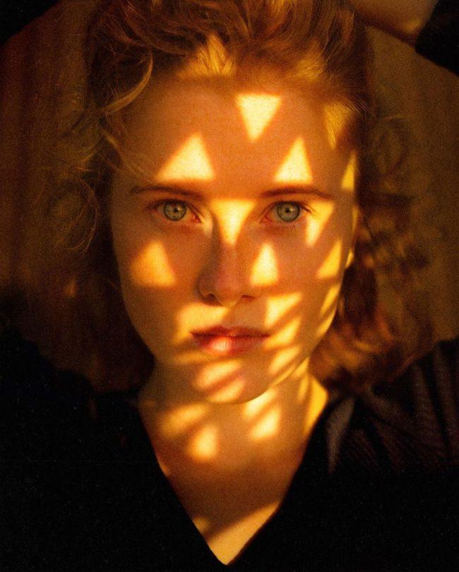 Lichtdreiecke auf einem Gesicht