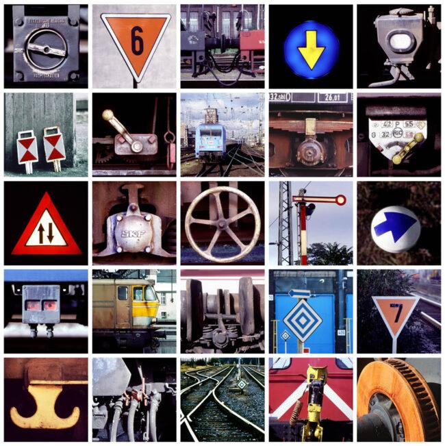 Collage Details Eisenbahn