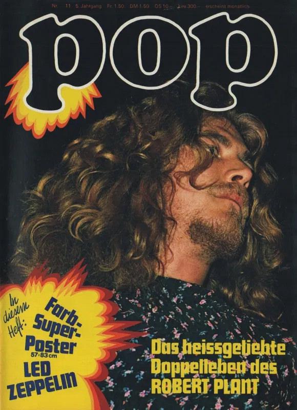 Robert Plant von unten fotografiert