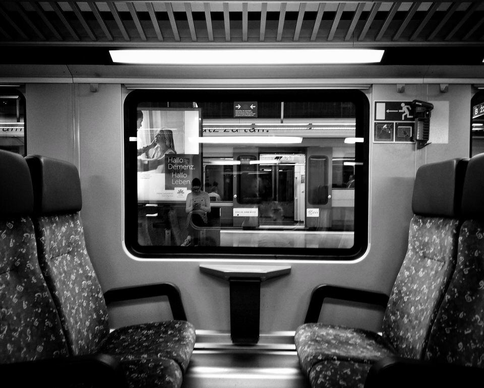 Foto aus einem Zugfenster heraus
