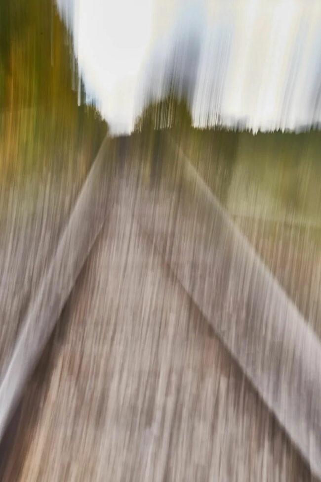 verschwommene Gleise