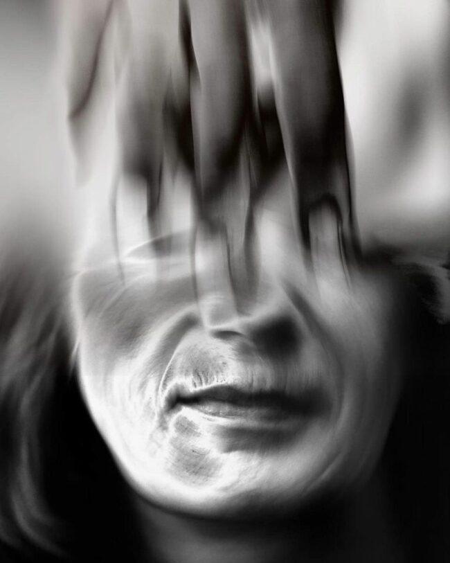 Surreales verschwommenes Portrait