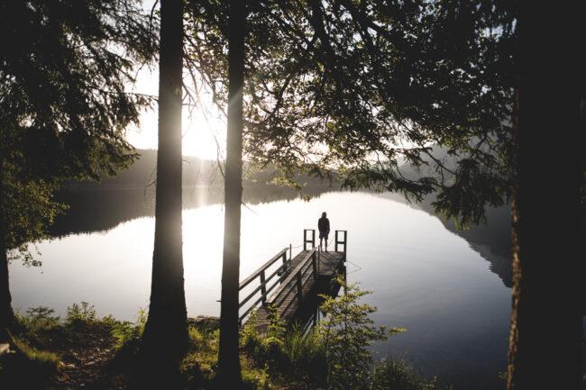 Steg am einem See
