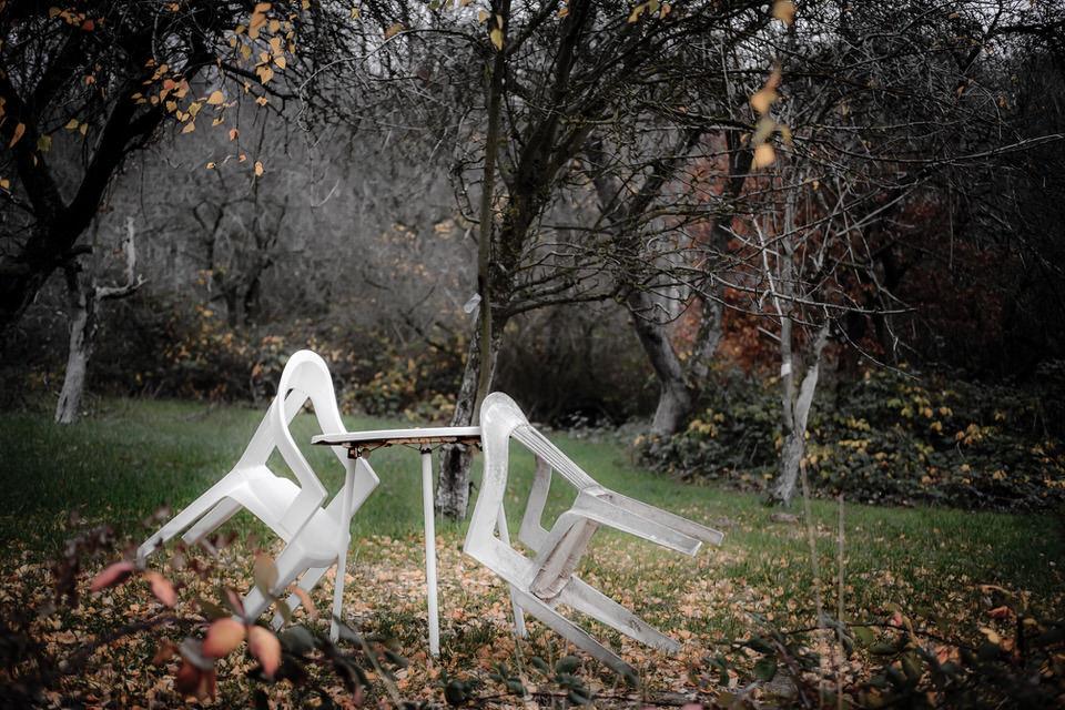 Gartenecke im Herbst