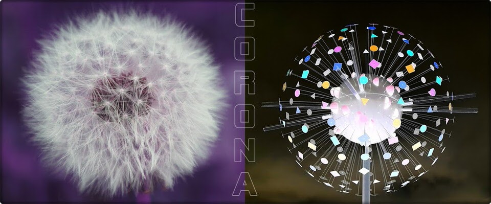 Pusteblume und Corona-modell