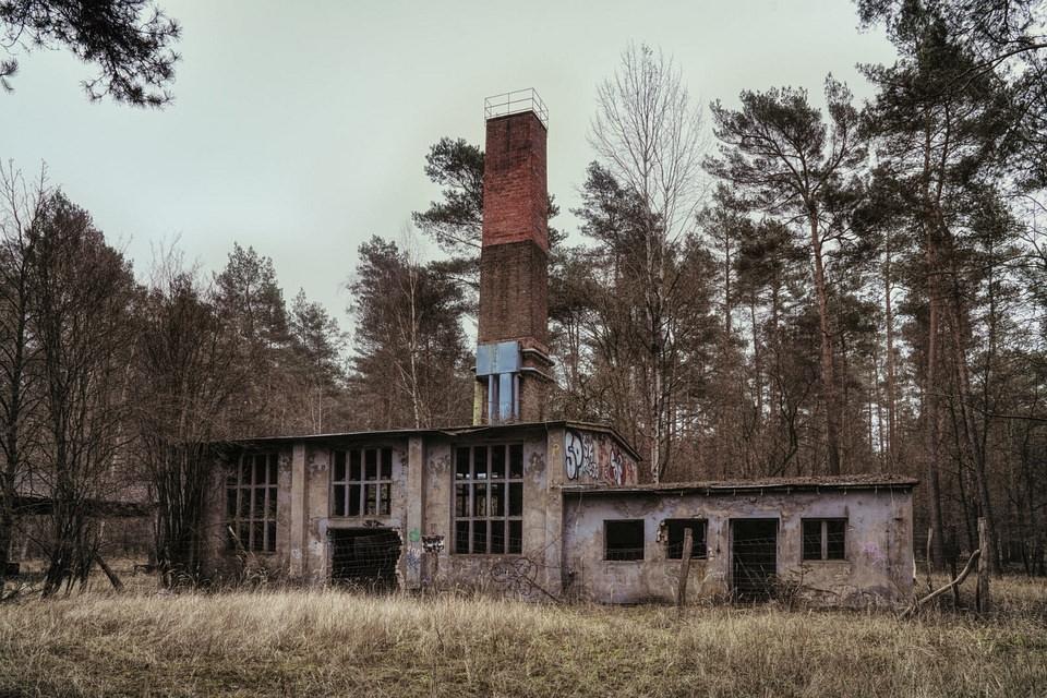 verfallenes Gebäude im Wald