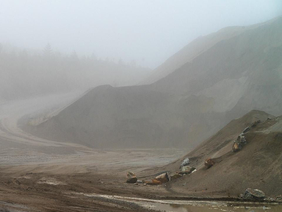 Sandberge im Nebel