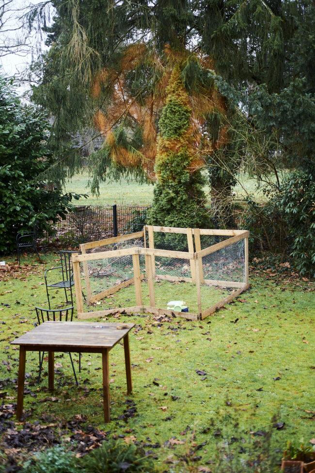 Kleintierstall im Garten