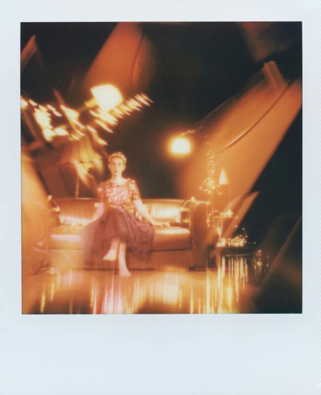Polaroidportrait mit Prismaeffekt