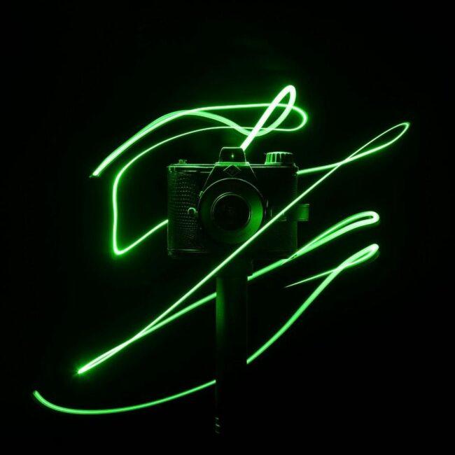 Kamera mit Lightpainting