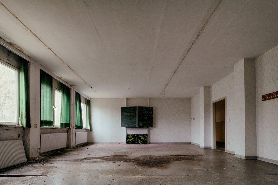 verlassenes Klassenzimmer