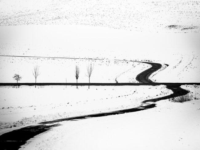Straße in einer Winterlandschaft
