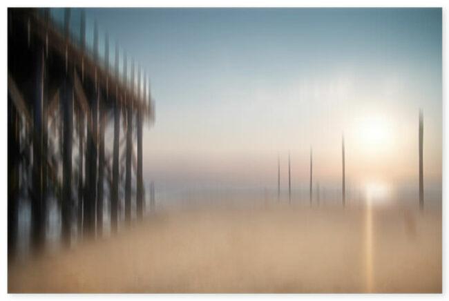 Unscharfes Foto eines Strands