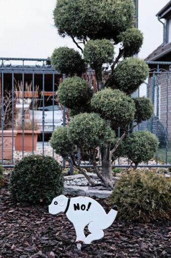Vorgarten mit Hundeverbotsschild