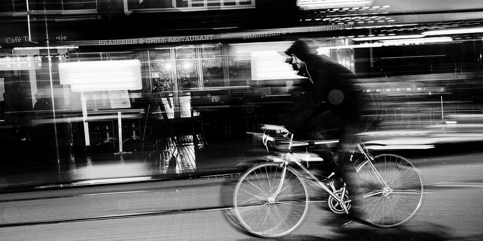 Fahrradfahrer auf einer Straße