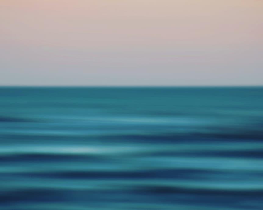 unscharfer Blick aufs Meer