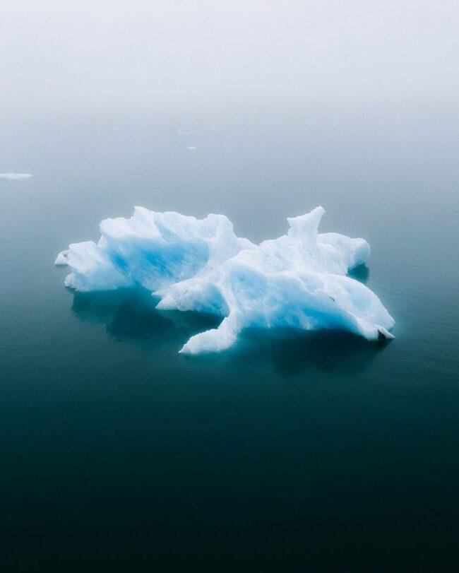 Eis im Wasser