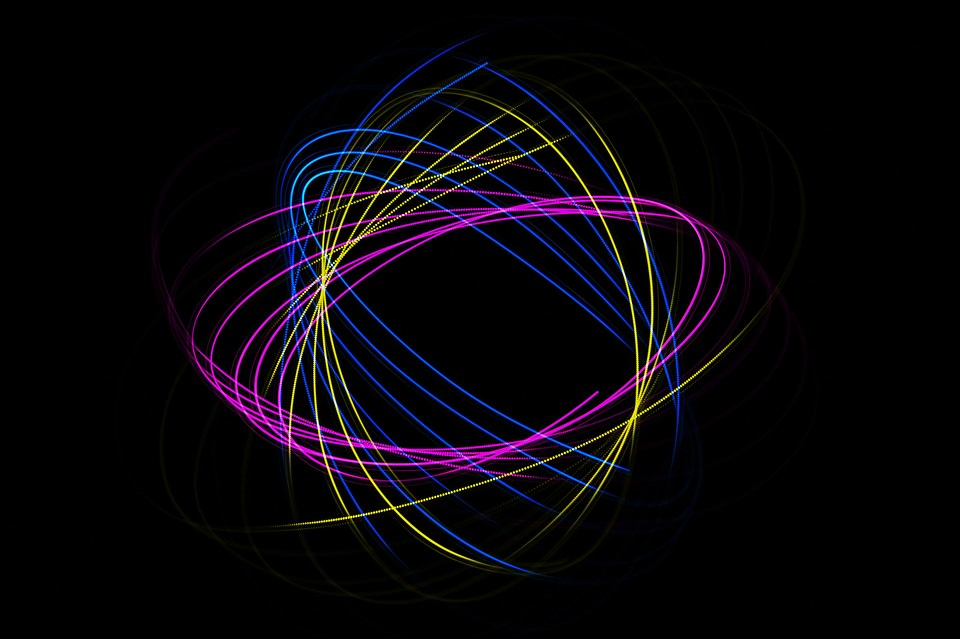 buntes Lightpainting