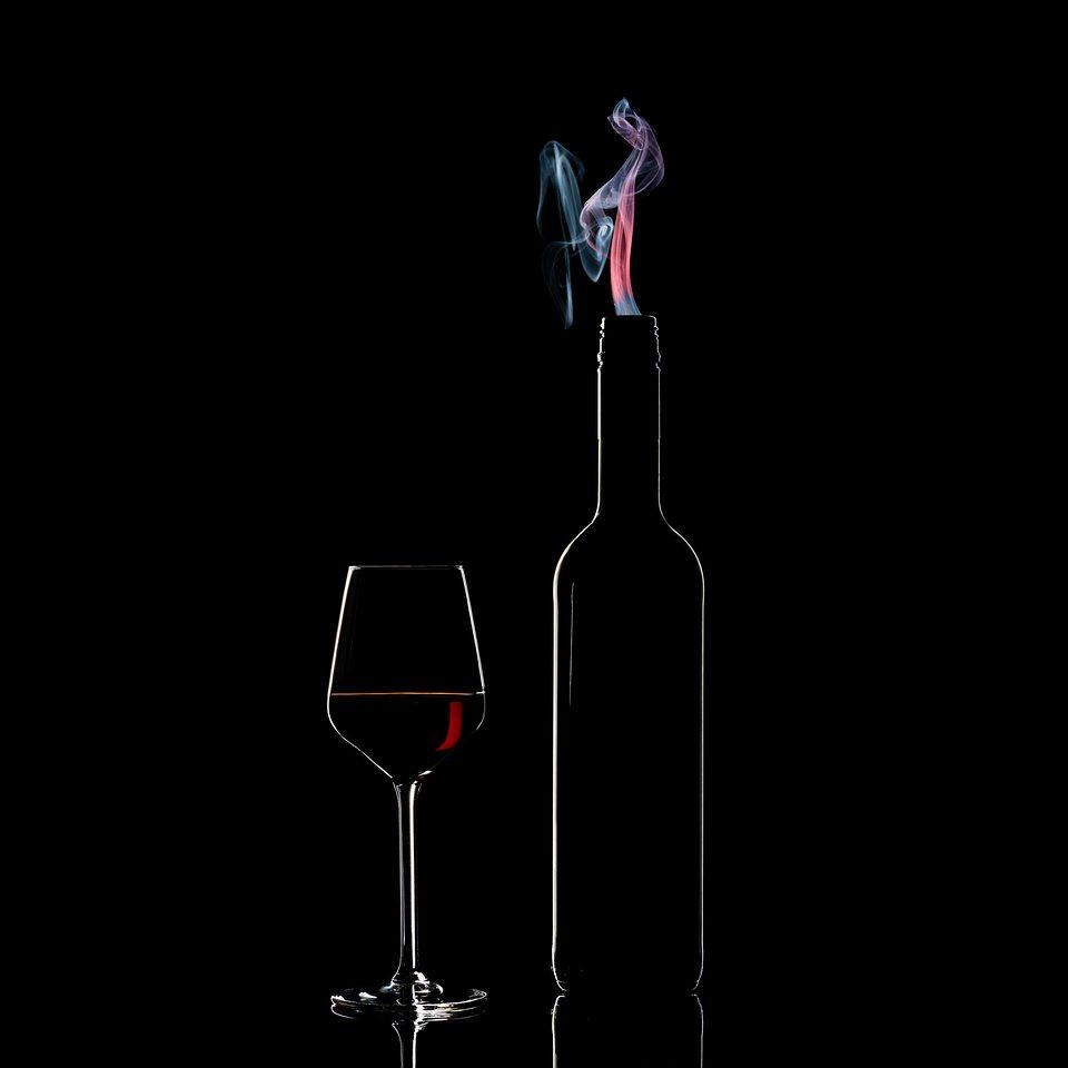 Glas und Flasche