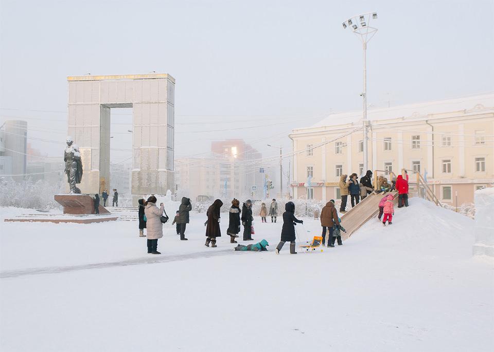 Menschen im Winter