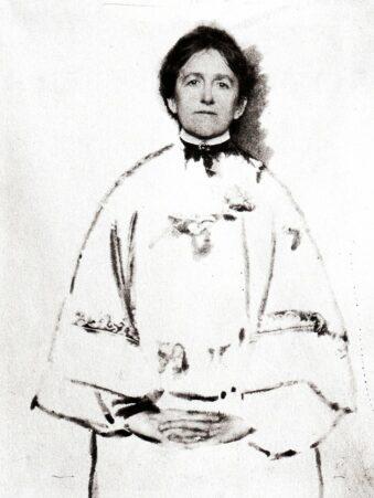 Portrait mit Zeichnung