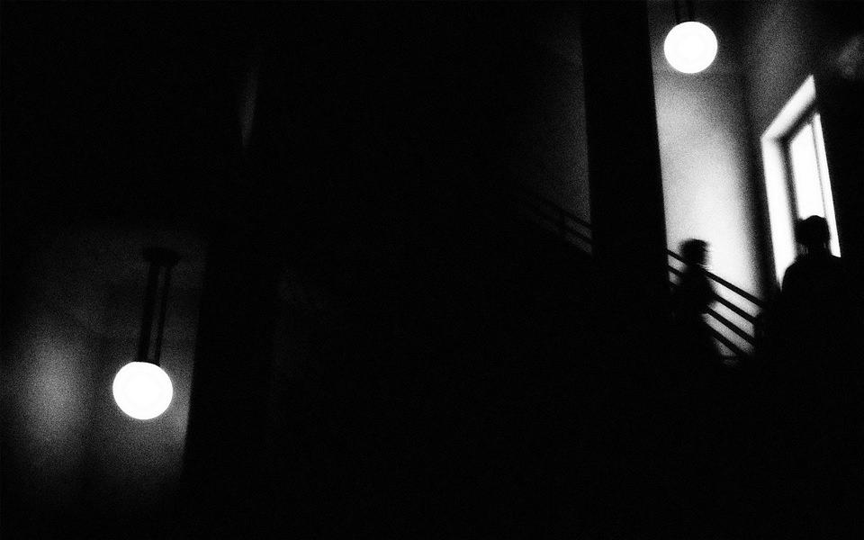 Silhouette im Dunkeln