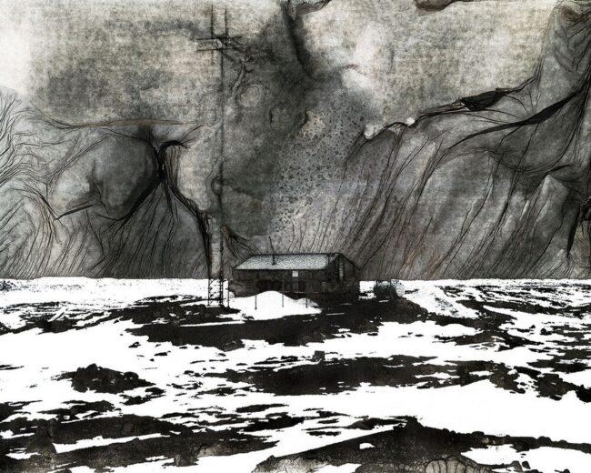 Morcancage-Landschaft mit Hütte