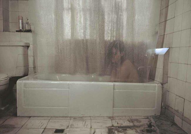 Person in einer Badewanne