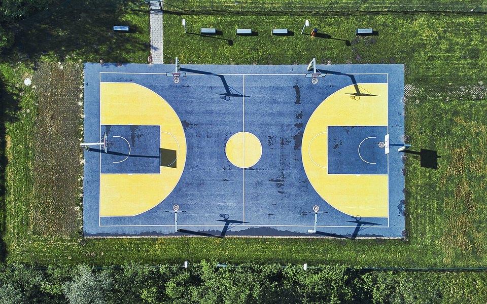 Basketballfeld von oben