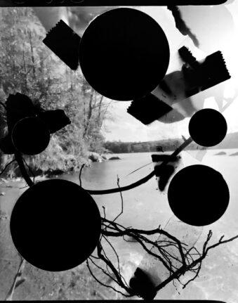 Landschaft mit Kreisausschnitten