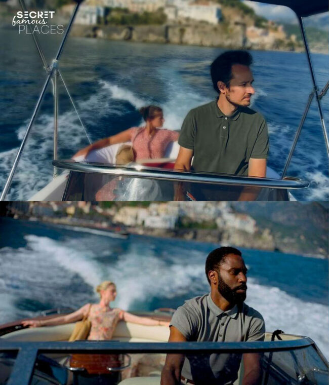 Filmszene auf einem Boot