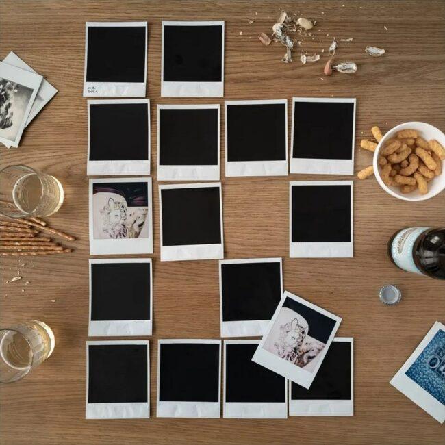 Memoryspiel mit Polaroids