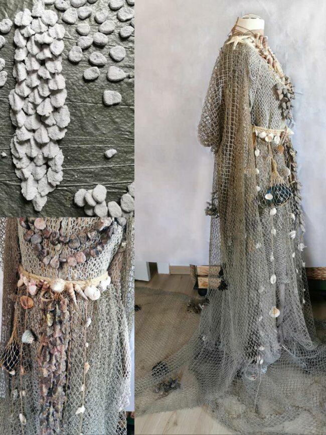 Kleid aus Fischernetzen