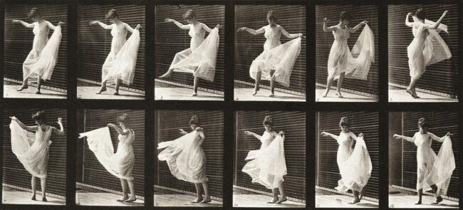 Bilderserie Bewegungsablauf einer tanzenden Frau