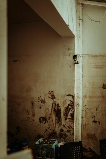 Schmutz an den Wänden