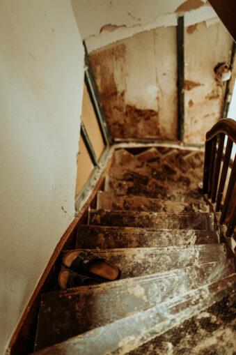 Kaputte Treppe